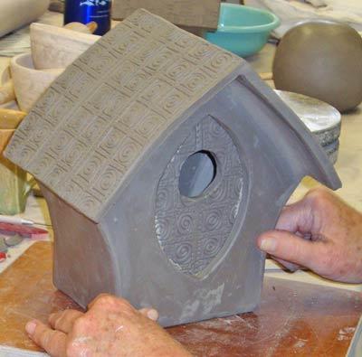 Ceramic And Clay Birdhouses Bird Feeders And Bird Baths
