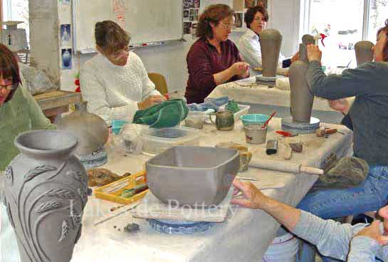 hand building clay ceramic class