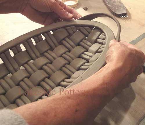 weaving with clay - working with the extruder