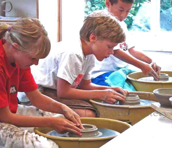 teens creative summer camp - pottery class in session