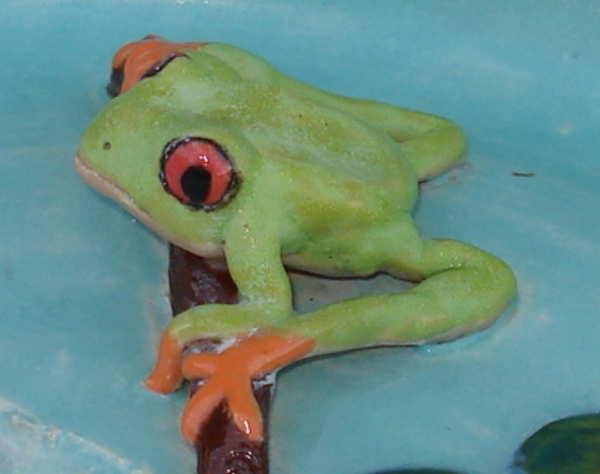 ceramic clay frog