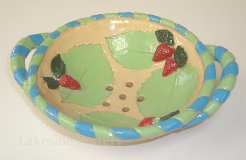 clay berry bowl colander children project