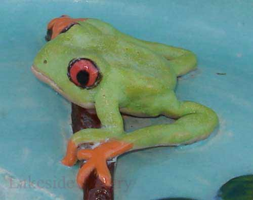ceramic clay frog project