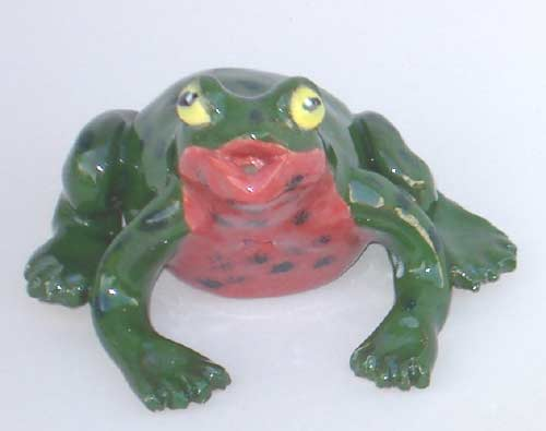 clay whistle frog - pinchpot