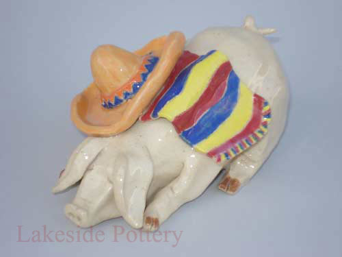 pig clay projects - pinchpot
