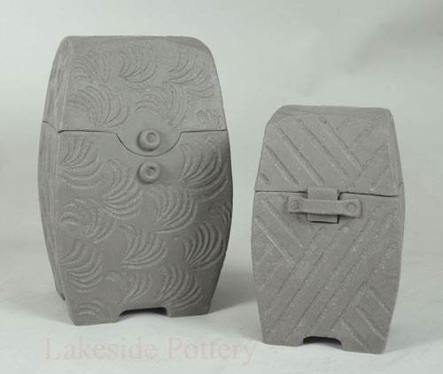 carved clay boxes hand building prokect