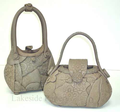 Clay quilted purses