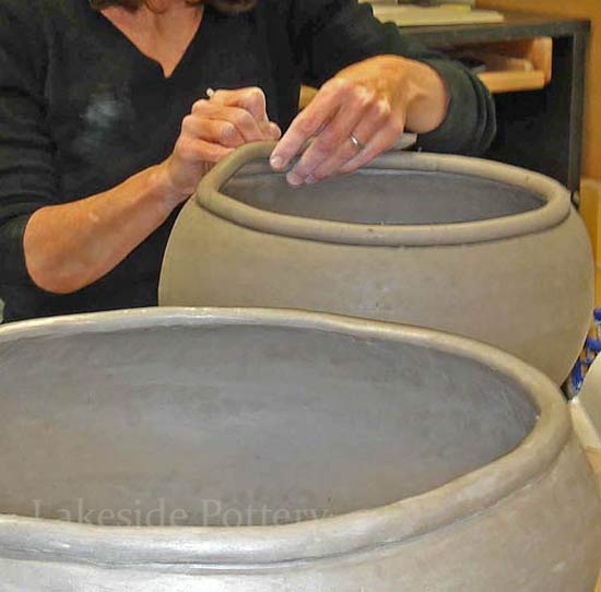 making large pots using coil