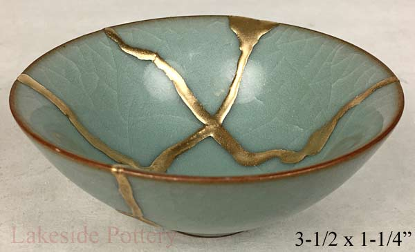 Celadon crackled Chinese bowl