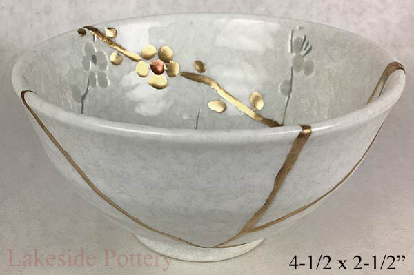 Kintsugi art for gift sale repaired using Makienaoshi style