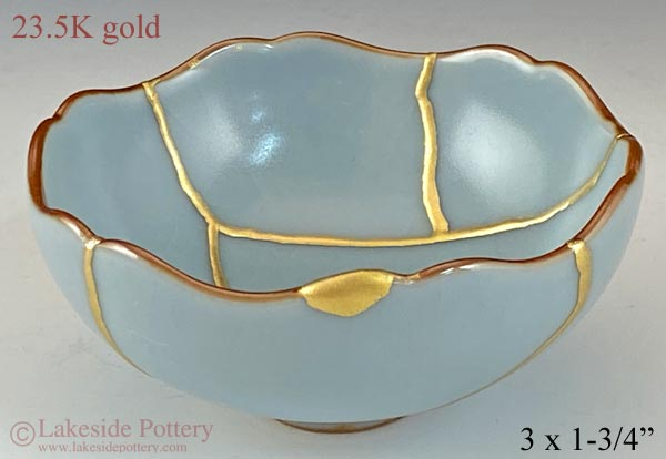 Blue Japanese Kintsugi bowl