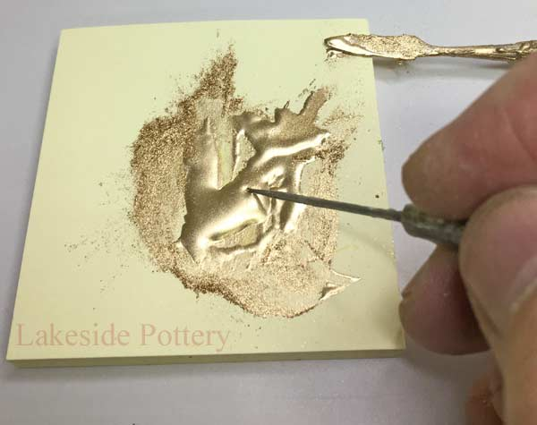 Use a sharp tool to carry the gold effect