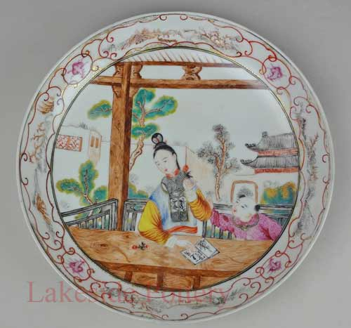 Ming Dynasty plate repaired