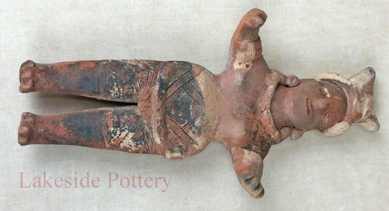 Pre-Columbian Central American Terracotta Figure repaired