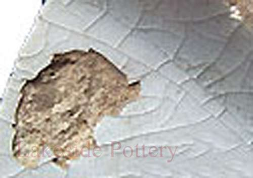 damaged pottery due to improper cleaning