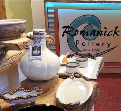 Romanic pottery studio, custom made to order pottery